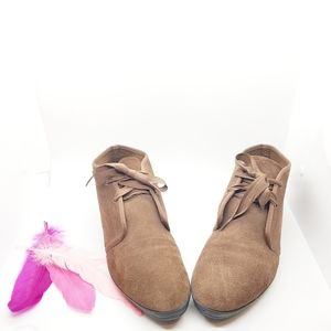 10M | KEDS Chukka Ankle Booties Leather Upper